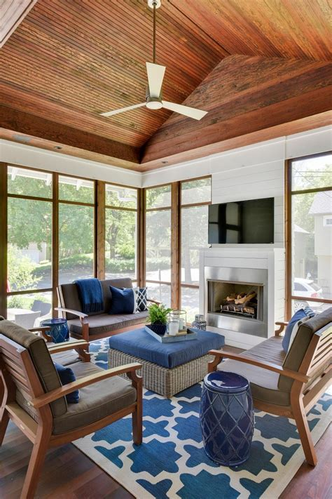 casual sophisticated enclosed outdoor living room