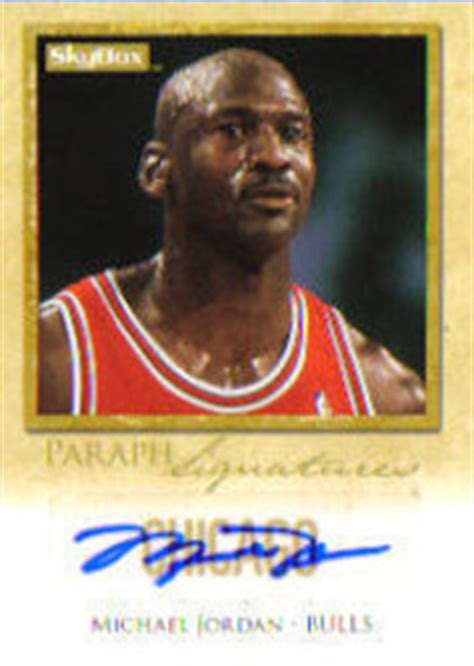 top michael jordan autographed cards   time