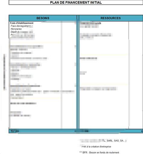 modele plan de financement mod 232 le de plan de financement initial la lettre mod 232 le
