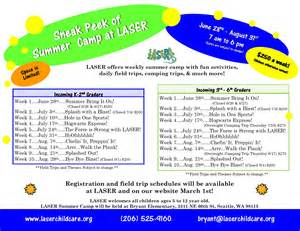 Summer Camp Daily Schedule 2017