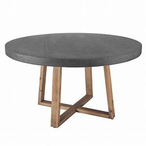 Table En Bois Et Resine : best table de jardin ronde en resine blanche gallery awesome interior home satellite ~ Dode.kayakingforconservation.com Idées de Décoration