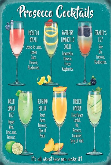 the kitchen collection uk prosecco cocktail recipes metal wall sign 3 sizes