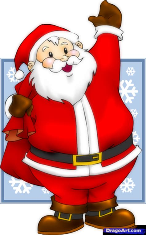 best drawi g of santa clause with chrisamas tree how to draw an easy santa step by step stuff