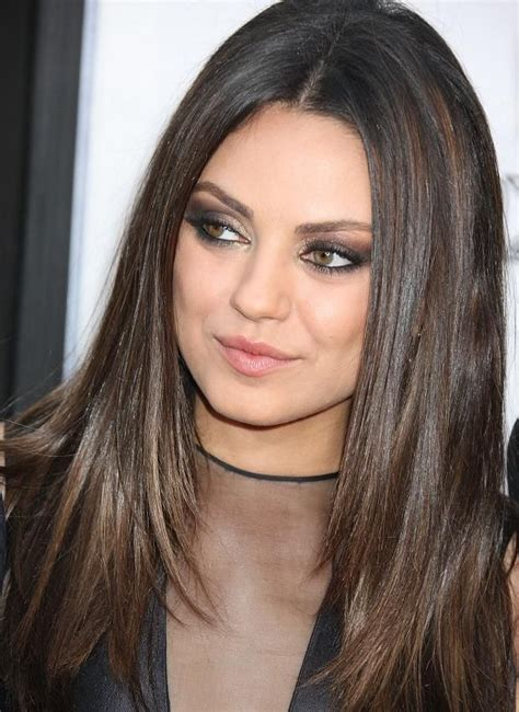 haircuts for brown hair mila kunis has great exle of chestnut brown with 4072