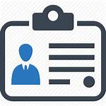 Icon Card Tag Identity Business Icons Employee