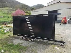Portail Bois 4m : portail coulissant acier 4m portillon alu noir amaranthes ~ Premium-room.com Idées de Décoration