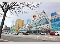 VIA 57WEST BIG's distorted pyramid building is nearly