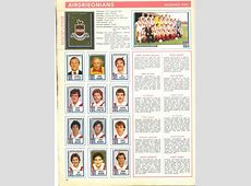 Airdrieonians 1981 Classic Football Stickers