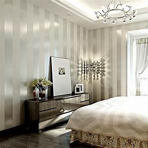 Modern Black Wallpaper Striped Purple And Silver Glitter ...