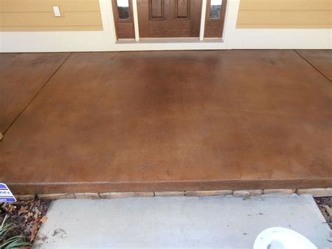 stained concrete for exterior porches patios