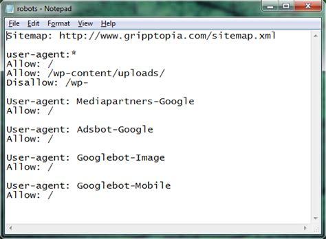 robots txt file sitemap allow xml