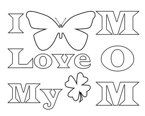 love  mom coloring pages