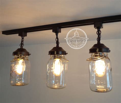 how to install a ceiling fan box vintage mason jar track light trio