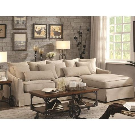 No Credit Check Sofa by Sectional Sofa With Chaise And Feather Blend Cushions Xoom