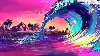 Ocean Wave Retro Wallpapers 4k Colores Ola