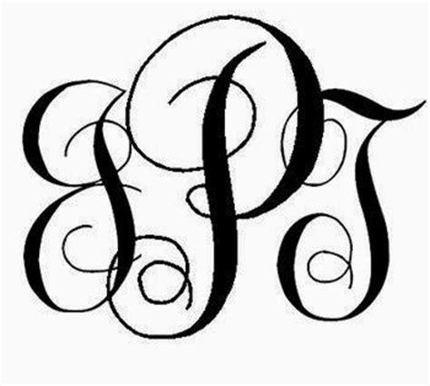 interlocking monogram font