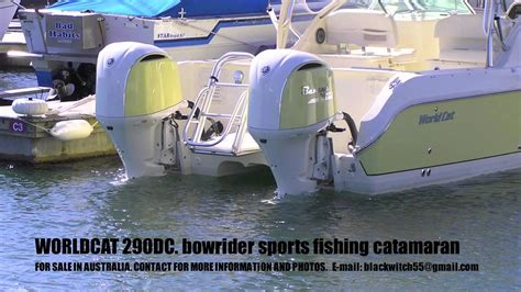 World Cat Boats Logo by Worldcat 290dc Bowrider Sports Fishing Power Catamaran