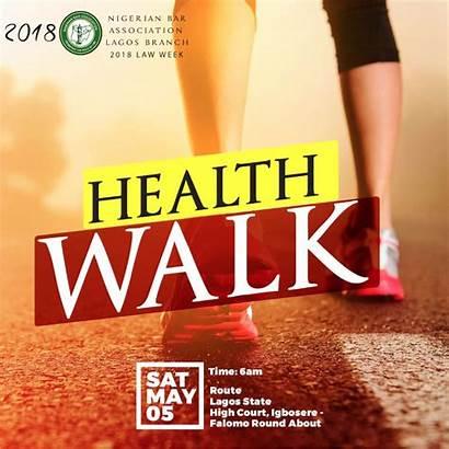 Walk Health Week Law Lagos Nba Flier