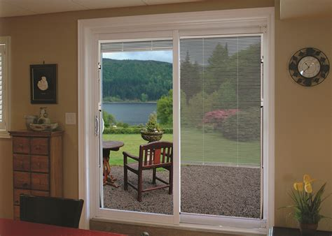 sliding patio door with mini blinds gallery vinylguard