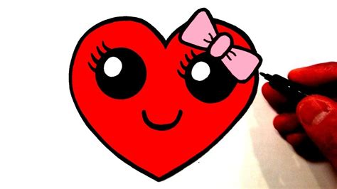 How To Draw A Cute Heart Smiley Face With A Bow