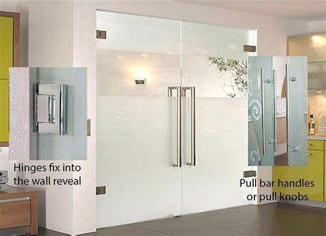 frameless glass double swing double doors elegant doors