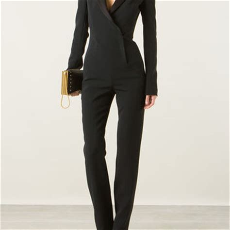 black fitted jumpsuit mugler fitted black jumpsuit from montaigne market oh