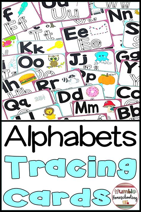 alphabet tracing cards uppercase  lowercase