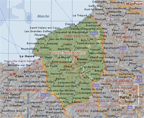Carte Haute Normandie by Carte De La R 233 Gion De La Haute Normandie