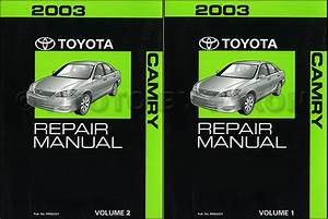 2003 Toyota Camry Repair Shop Manual Supplement Original