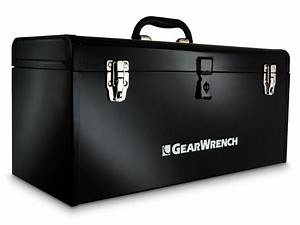 Gearwrench 19-in Metal Tool Box W   Tote Tray