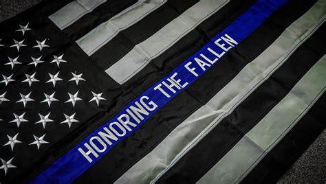 Honoring The Fallen Thin Blue Line Flag