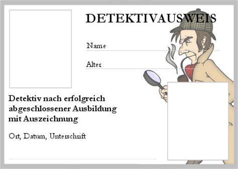 detektivausweis ausdrucken detektivbyra jaern detektiv