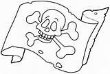 Pirate Flag Coloring Pages Omalovanky Bandera Pirata Template Pirates Pittsburgh Ship Skull Malvorlagen Ausmalbilder Printables sketch template