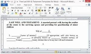 Download A Will Template Free Last Will And Testament Template For Word
