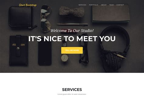 Wordpress Headers agency  page bootstrap theme start bootstrap 1500 x 1000 · png