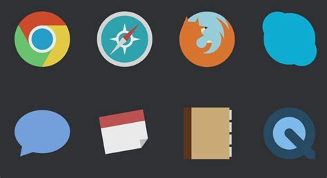 Attention Mac Users: These Minimalist Icons   Candy Bar