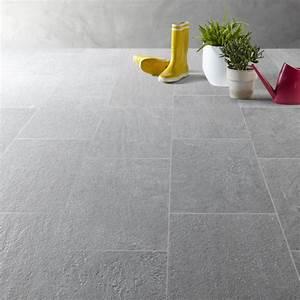 Carrelage Terrasse Gris : carrelage gris effet pierre story x cm leroy merlin ~ Nature-et-papiers.com Idées de Décoration