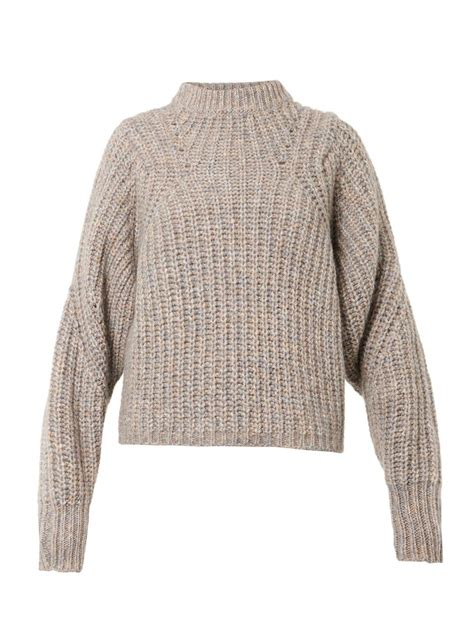 marant sweater marant newt chunkyknit sweater in beige neutral