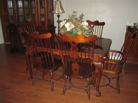 virginia house dining room set  pieces real cherry wood