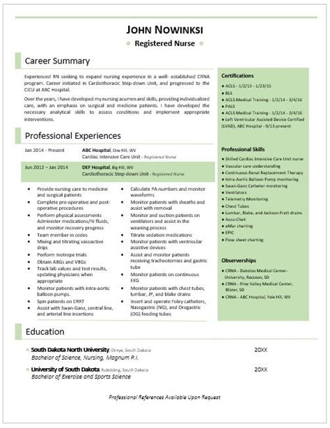 Exle Of Rn Resume by Awesome Rn Resume Clean And Best Of All All On