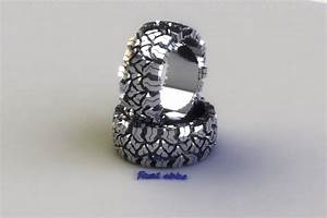 tread ring silver or gold edde designs With mudding tire wedding rings