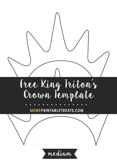 king tritons crown template medium size shapes