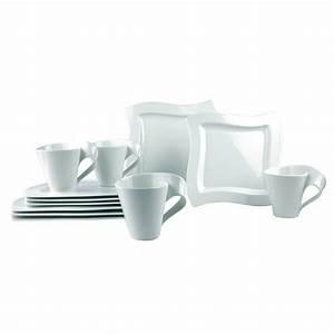 Villeroy New Wave : villeroy boch new wave 12 piece white dinnerware set ~ Watch28wear.com Haus und Dekorationen
