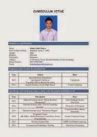 Cv Sle by Contoh Cv Curriculum Vitae Atau Daftar Riwayat Hidup