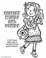 Coloring Scout Pages Brownie Cookie Popular sketch template