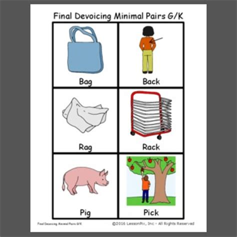 final devoicing minimal pairs gk