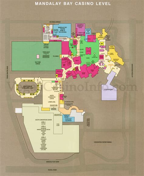 Mandalay Bay Casino Floor Plan by Las Vegas Casino Property Maps And Floor Plans