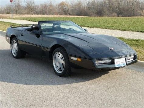 Sell Used 1989 Corvette Convertible, Automatic, Triple