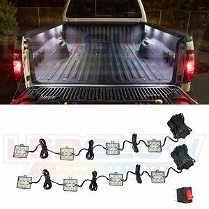 8pc Ledglow Truck Bed White Led Lighting Light Kit For