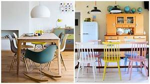 envie de chaises depareillees chaises depareillees With salle À manger contemporaineavec chaises colorees